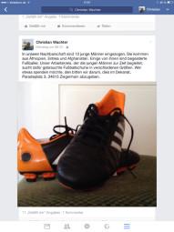 """Dekan Christian Wachter ruft auf seiner Facebook-Seite zur Spende von Fußball-Schuhen auf, die im Dekanat in Ziegenhain abgegeben werden können (Paradeplatz 3). Dekan Wachter: """"Wir brauchen noch gebrauchte Fußballschuhe in verschiedenen Größen."""" Screenshot: nh"""