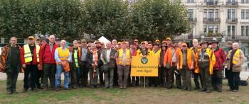 Die Teilnehmer des KJV Hubertus Ziegenhain e.V . bei der Demonstration in Wiesbaden. Foto: nh