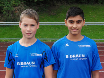 Jan Gille und Navtej Dhaliwal überzeugten mit guten Leistungen im Balweitwurf. Foto: nh