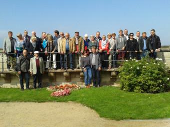 Reisegruppe auf der Burganlage von Wernigerode. Foto: nh
