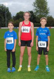 Alessia Oglialoro, Lynn Olson und Nico Dörfel, drei Nachwuchsläufer, die in den kommenden Jahren für positivie Schlagzeilen sorgen können. Foto: nh