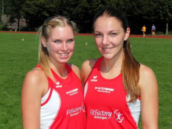 Karolin Siebert und Marie Wagner, die mit guten 400m-Zeiten überzeugen konnten. Foto: nh