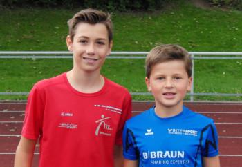 Yannik Schleider und Alexander Ludwig übersprangen beide 1,40 m im Hochsprung. Foto: nh