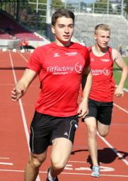 Henri Alter mit neuer 100m-Bestzeit von 11,59 Sekunden. Foto: Alwin J. Wagner
