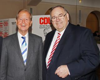 Friedrich Bohl und Bernd Siebert. Foto: nh