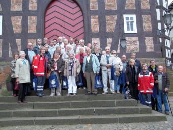 """Die Teilnehmer des diesjährigen Seniorenausfluges nach Frankenberg freuten sich über die gelungene """"Landpartie"""". Foto: nh"""