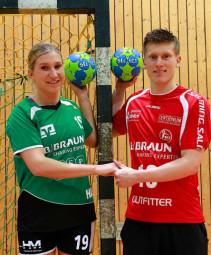 Melsunger Handballpärchen Boomhouwer/Maarse. Der Melsunger Bundesligastar kommt ins kirchhofer Handballcamp am 21. Oktober. Foto: nh