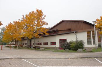 Die als Erstaufnahmelager vorgesehene Turnhalle in Guxhagen. Foto: nh