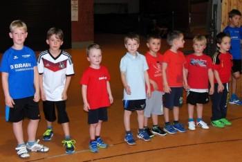 Auch die kleinsten Schüler waren mit Begeisterung beim Lauf über 560 Meter dabei. Foto: Alwin J. Wagner