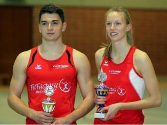 Henri Alter und Katharina Wagner sicherten sich die Pokalwertung bei den Männern und Frauen. Foto: Alwin J. Wagner