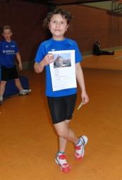 Karina Keil war die jüngste Starterin beim Mehrkampf-Meeting in der Melsunger Stadtsporthalle. Foto: Alwin J. Wagner