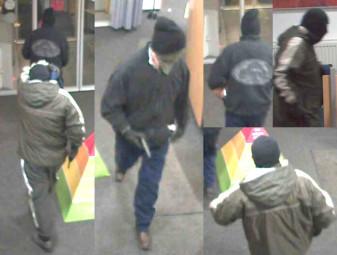 Bilder der Täter in der Bank. Foto: Polizei Homberg/obs