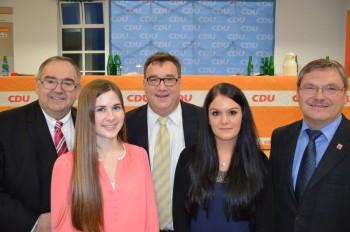 Bernd Siebert MdB, Katharina Kothe, Staatssekretär Mark Weinmeister, Christin Ziegler und Reinhard Otto (v.l.). Foto: nh