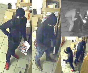 Die zwei Täter bei der Tatausführung. Foto: Polizei Homberg/obs