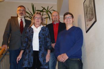 Lothar van Eikels, Monika Vaupel, Jan Rauschenberg und Martin Bachmann (v.l.). Foto: nh