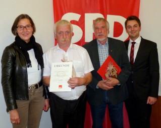 Regine Müller (MdL), Günther Ritter, Gerhard Hosemann und Patrick Gebauer (vl.). Foto: nh