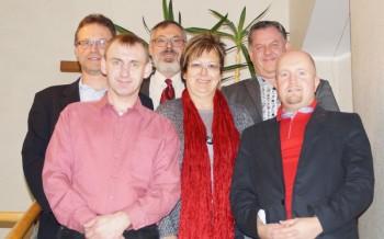 Der bestätigte Vorstand: Stefan Umbach, Markus Lenze, Lothar van Eikels (Beisitzer), Heike Wüst, Olaf Schüssler und Jan Rauschenberg (v.l.). Foto: nh