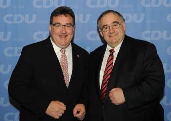 Mark Weinmeister und Bernd Siebert. Foto: nh