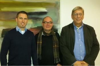 Foto: Jan-Patrick Witte, Dr. Hartmut Quehl und Siegfried Gedig (v.l.). Foto: nh