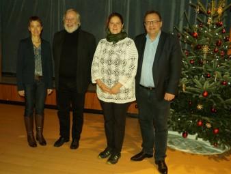 Betriebsleiterin Kerstin Schwab, Wolfgang Staus, Andrea Kecht und Landrat Winfried Becker (v,l.). Foto: nh