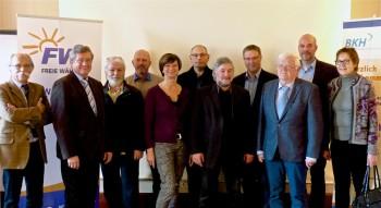 Helmut Mutschler, Willi Werner, Winfried Hucke, Reinhold Theis, Elke Kochler, Markus Pollok, Lothar Kothe, Achim Jäger, Eckbert Siebert, Dr Christoph Pohl und Christa Strohm (v.l.). Foto: nh