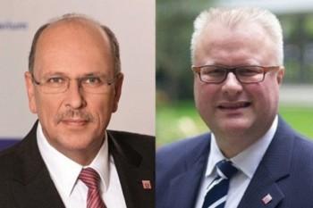 Hessens Minister für Soziales und Integration, Stefan Grüttner, und Finanzminister Dr. Thomas Schäfer. Fotos: HSM (links)/HMdF (rechts)