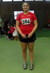 Janina Rohde sicherte sich mit 10,95 m im Kugelstoßen der WU20 den zweiten Platz. Foto: nh