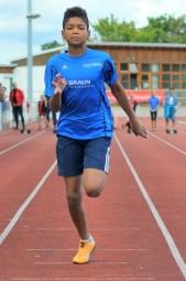 Jermaine Kothe lief die 50 Meter in 7,73 Sekunden. Foto: nh
