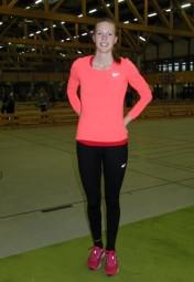 Katharina Wagner hatte allen Grund zur Freude, denn sie lief mit 26,94 Sekunden eine persönliche Hallenbestzeit. Foto: nh