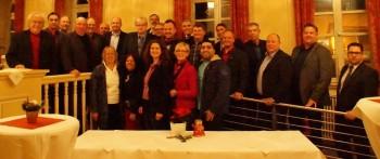Einige der Kandidaten fanden sich zur letzten Sitzung des Stadtparlaments am 8. Dezember zu einem Foto in der Stadthalle ein. Foto: nh