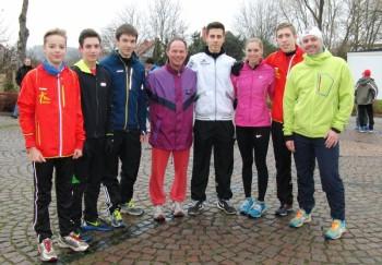 Das MT-Nachwuchs-Team beim Silvesterlauf in Kaufungen. Foto: Alwin J. Wagner