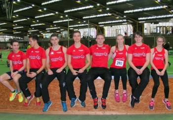 MT-Teilnehmer bei den Landes-Hallenmeisterschaften in Frankfurt. Foto: Alwin J. Wagner