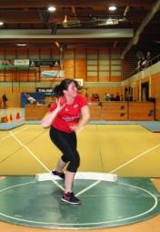 Lisa Arend siegte im Kugelstoßen mit 11,28 Metern. Foto: nh