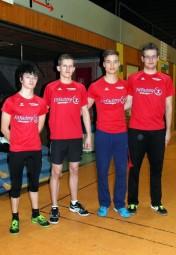 Stojan Nikolic, Leonhard Ebert, Dennis Horn und Florian Schareina setzten sich knapp im Staffelrennen durch. Foto: nh
