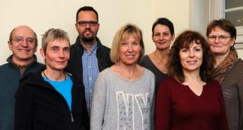 Burghart Meyer-Stagneth, Hellen Bockskopf, Holger Braun, Christiane Rößler, Ina-Beate Tollhopf, Ursula Diez und Sabine Stagneth (v.l.). Foto: nh