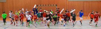 Ganz viel Spaß gab es beim 22. Handballcamp der SG 09 Kirchhof. Foto: Ryszard Kasiewicz