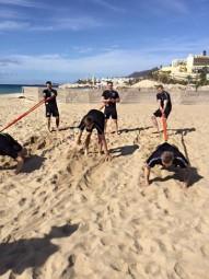 MT-Spieler im Trainingslager auf Fuerteventura. Foto: nh