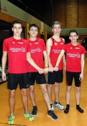 Das MT-Staffel-Quartett der männlichen Jugend. Foto: nh