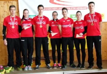 Sowohl das Jungen- als auch das Mädchen-Team der MT Melsungen holte sich bei den Landes-Crosslaufmeisterschaften den Titel. Foto: nh