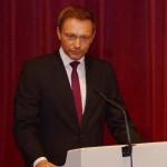 Festredner Christian Lindner (FDP Bundesvorsitzender Deutschland). Foto: Reinhold Hocke