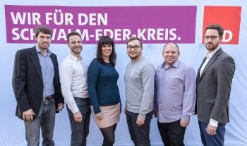 Die jungen Kreistagskandidaten der SPD Schwalm-Eder: Martin Herbold, Sebastian Vogt, Rosa Hamacher, Marcel Klitsch, Florian Reichhold und Dr. Philipp Rottwilm (v.l.). Foto: nh