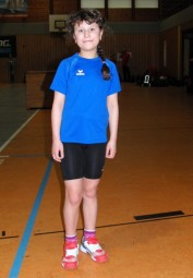 Die 10-jährige Karina Keil gefiel vor allem über 50 m. Foto: nh