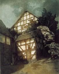 """Bild """"In Merzhausen"""" von Karl Sümmerer."""