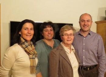 Ute Gluth (Kassiererin), Anette Müller (Schriftführerin), Karin Peter (2. Vorsitzende) und Michael Leib (1. Vorsitzender) (v.l.). Foto: nh