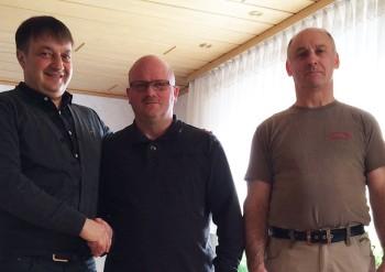 Uwe Schwalm, Jubilar Dieter Helwig und Gerhard Wagner (v.l.). Foto: nh