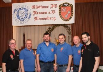 Helmut Haber, Hans Walter Knoch, Ralf Schmitt, Markus Tettschlag, Helmut Wolf und Frank Pfetzing (vl.). Foto: nh