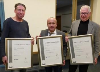 Joachim Eufinger, Jochen Bollerhey und Josef Schinagel (v.l.). Foto: Wolfgang Scholz