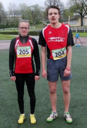 Die neuen Rekordhalter Lynn Oslon und Christian Schulz. Foto: nh