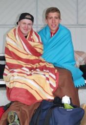 Bei dieser eisigen Kälte halfen nur warme Decken. Foto: nh