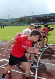 Start zum 800m-Lauf der männlichen Jugend. Foto: nh
